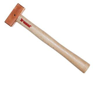 Kupferhammer quadratisch 200 gr 270 mm mit Sicherungssplint
