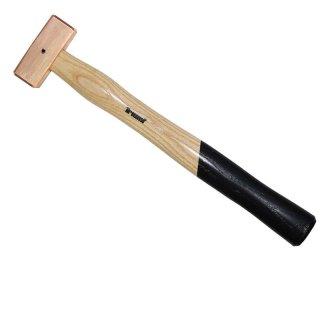 Kupferhammer quadratisch 500 gr 295 mm mit Sicherungssplint