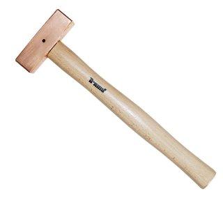 Kupferhammer quadratisch 800 gr 325 mm mit Sicherungssplint
