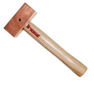 Kupferhammer quadratisch 1000 gr 320 mm mit Sicherungssplint