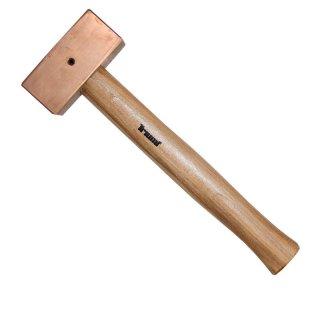 Kupferhammer quadratisch 2000 gr 340 mm mit Sicherungssplint