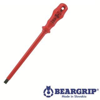 Schlitzschraubendreher Serie 714 8 x 175 mm isoliert, Beargrip