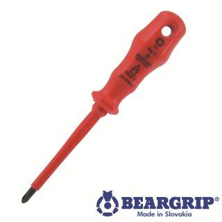 Kreuzschraubendreher Serie 716 PD 0 x 60 mm isoliert, Beargrip