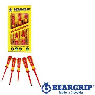 Schraubendreher 2K-Set VDE, Serie 736 PH + PL, 5 St.rot + gelb, Gelber Box, Beargrip