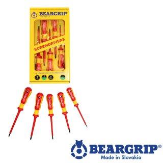 Schraubendreher 2K-Set VDE, Serie 741 PD + PL, 5 St. rot + gelb, Gelber Box, Beargrip