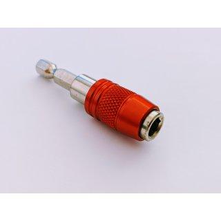 """Bithalter 1/4 """"x 60 mm mit Schraubenhalter + Magneten"""