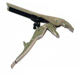 Gripzange selbstspannend gebogene Backen 225 mm