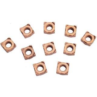 Kupfer vierkant Schweißmutter, M8, 10 Stück