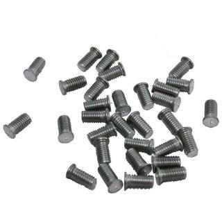 Aluminium-Anschweißbolzen mit Gewinde M4 Aluminium (AlMg3) 100 St.